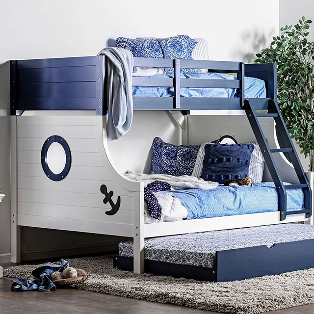 Twin Full Bunk Bed Bb629 Sandy S Furniture